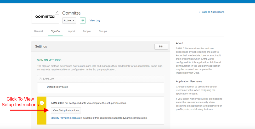 Set up Okta SSO – oomnitza